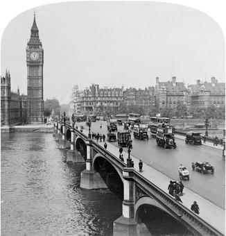 Westminster Bridge and Palace of Westminster - Lambeth, United Kingdom, 1926