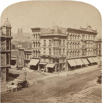 Northwest Corner of Geary and Kearny Street - San Francisco, CA, USA, 1850 - 1899