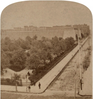 Southwest Corner of Reservoir Square - New York, NY, USA, 1850 - 1899