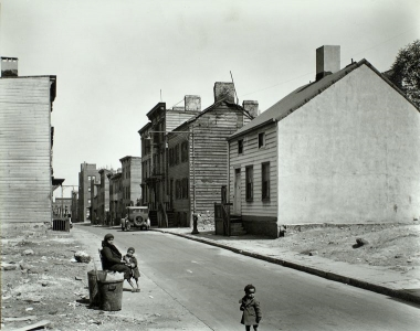 Looking East up Talman Street Toward Bridge Street - Brooklyn, NY, USA, 1936